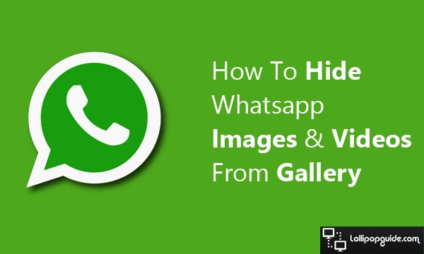 How to hide whatsapp images